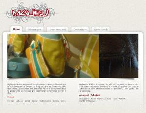 Schermata sito web High Tech Malibu realizzato dalla Gipsysoft